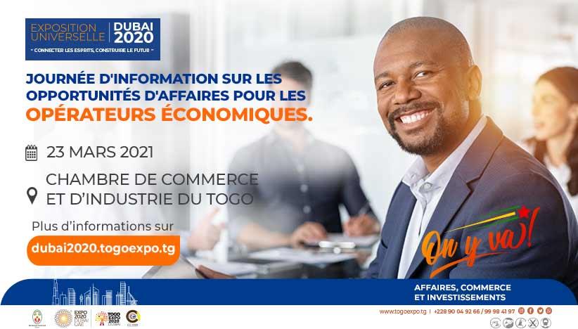 Communiqué relatif aux opportunités d'affaires aux Opérateurs Économiques à l'Expo2020 Dubaï