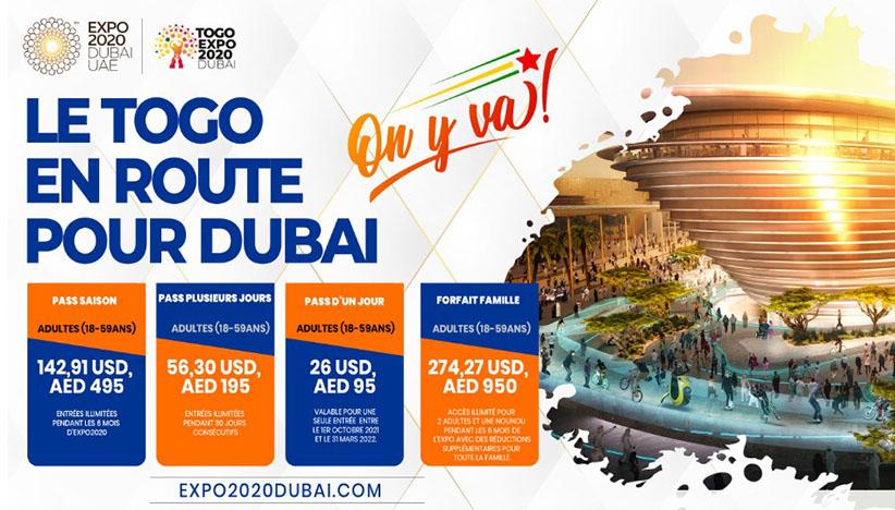 Billetterie à l'Expo2020 Dubaï